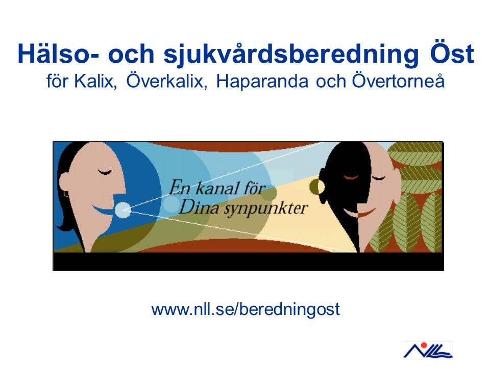 Hälso- och sjukvårdsberedning Öst för Kalix, Överkalix, Haparanda och Övertorneå