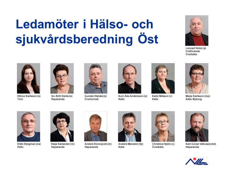 Ledamöter i Hälso- och sjukvårdsberedning Öst