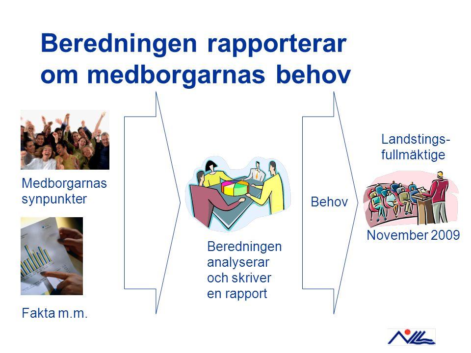 Beredningen rapporterar om medborgarnas behov