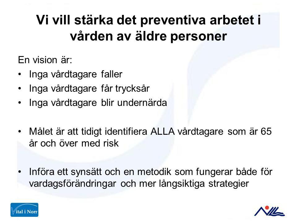 Vi vill stärka det preventiva arbetet i vården av äldre personer
