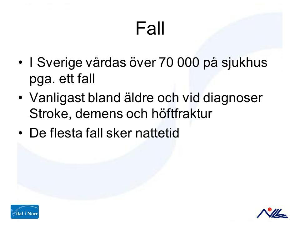 Fall I Sverige vårdas över 70 000 på sjukhus pga. ett fall