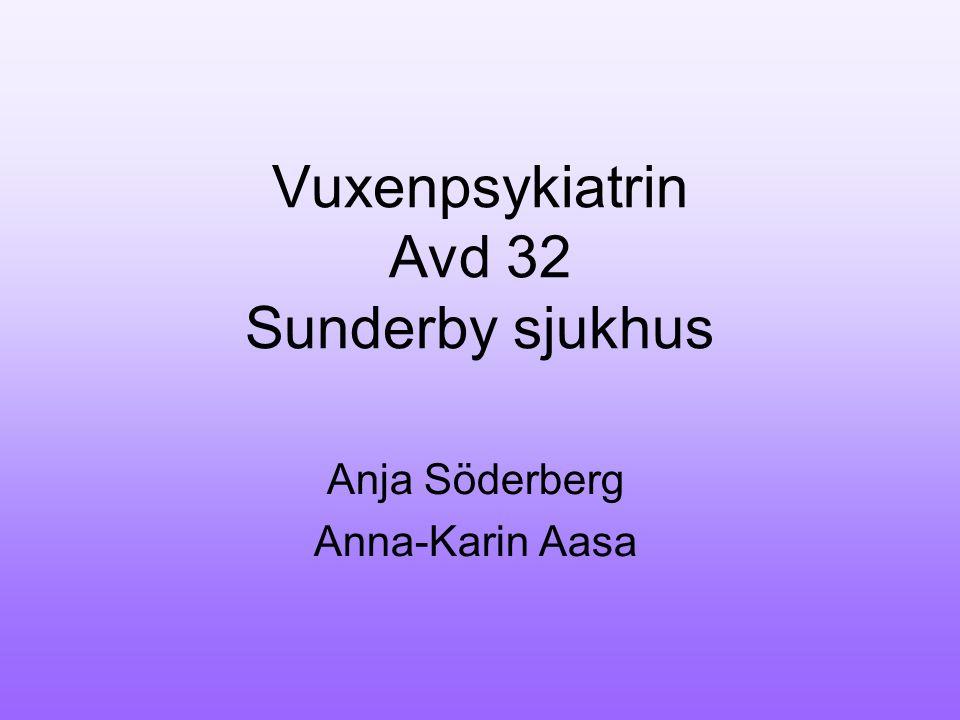 Vuxenpsykiatrin Avd 32 Sunderby sjukhus