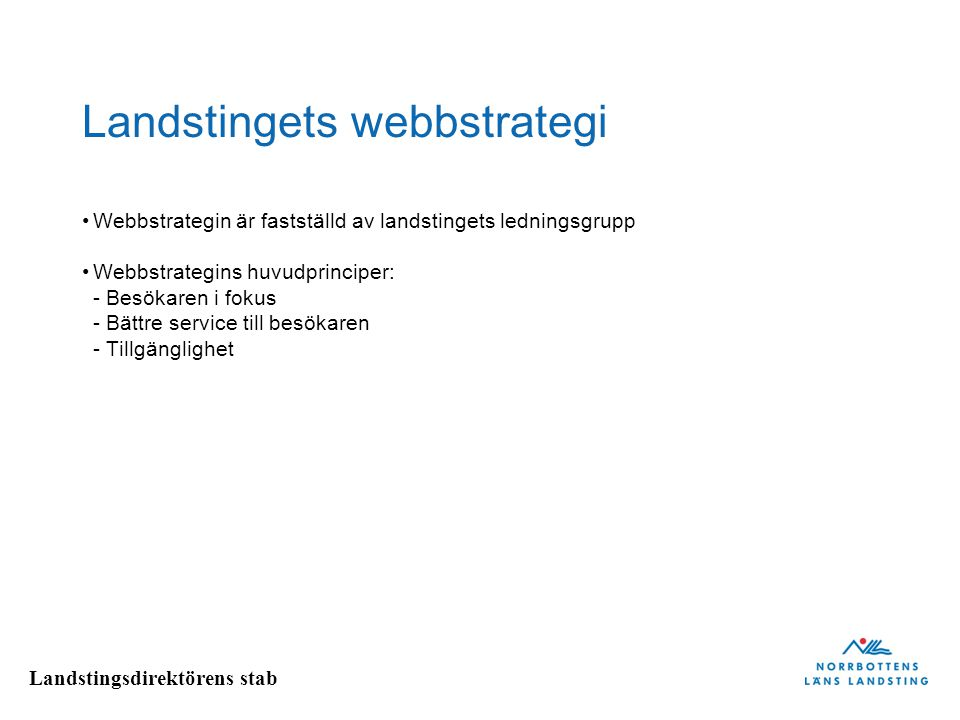 Landstingets webbstrategi
