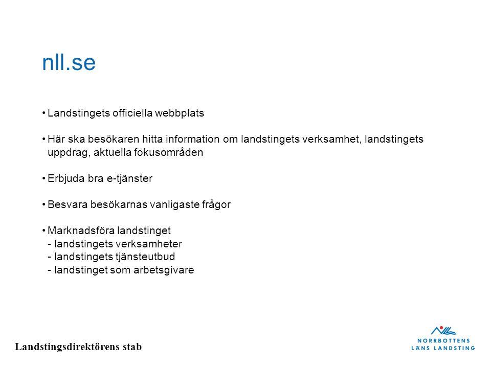 nll.se Landstingets officiella webbplats