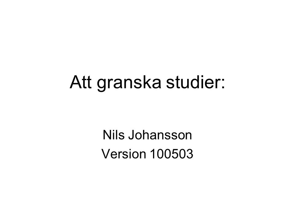 Nils Johansson Version 100503