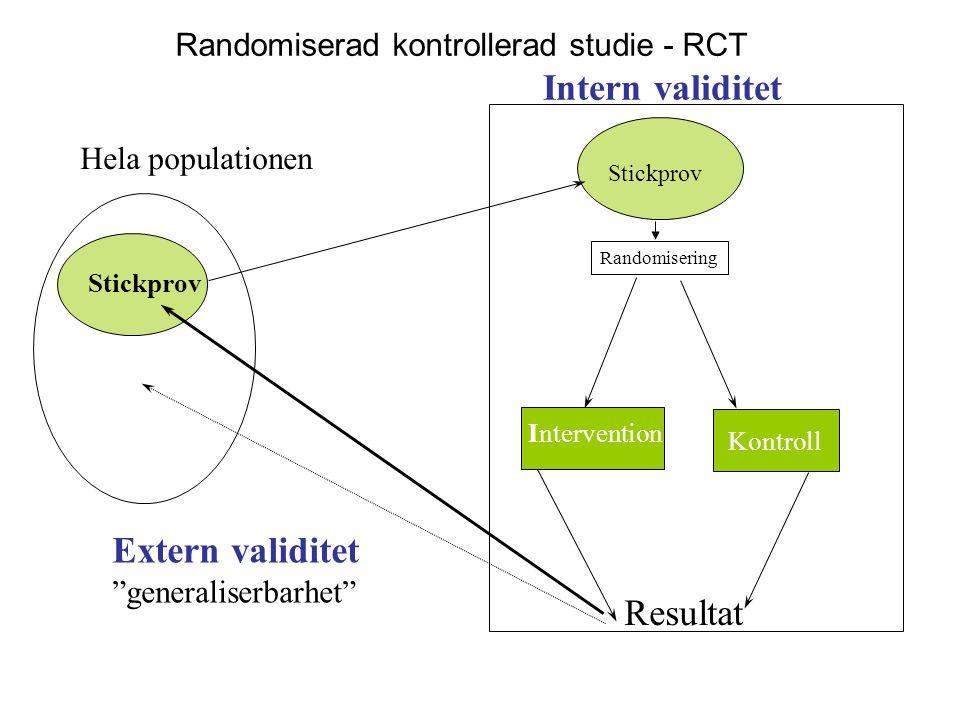 Randomiserad kontrollerad studie - RCT