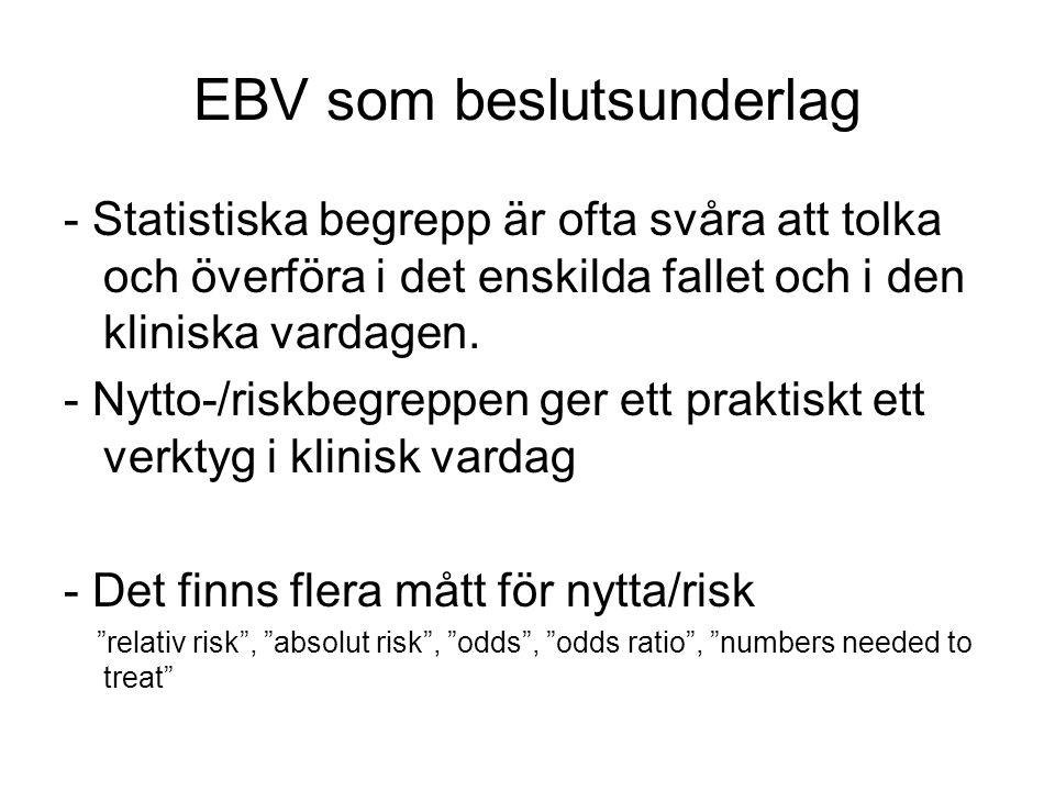 EBV som beslutsunderlag