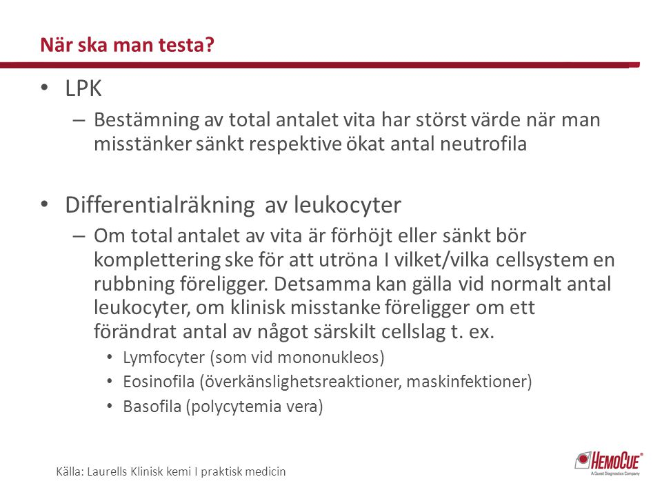 Differentialräkning av leukocyter