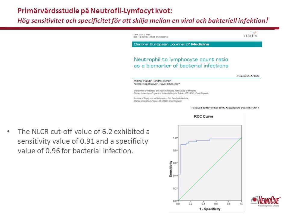 Primärvårdsstudie på Neutrofil-Lymfocyt kvot: Hög sensitivitet och specificitet för att skilja mellan en viral och bakteriell infektion!