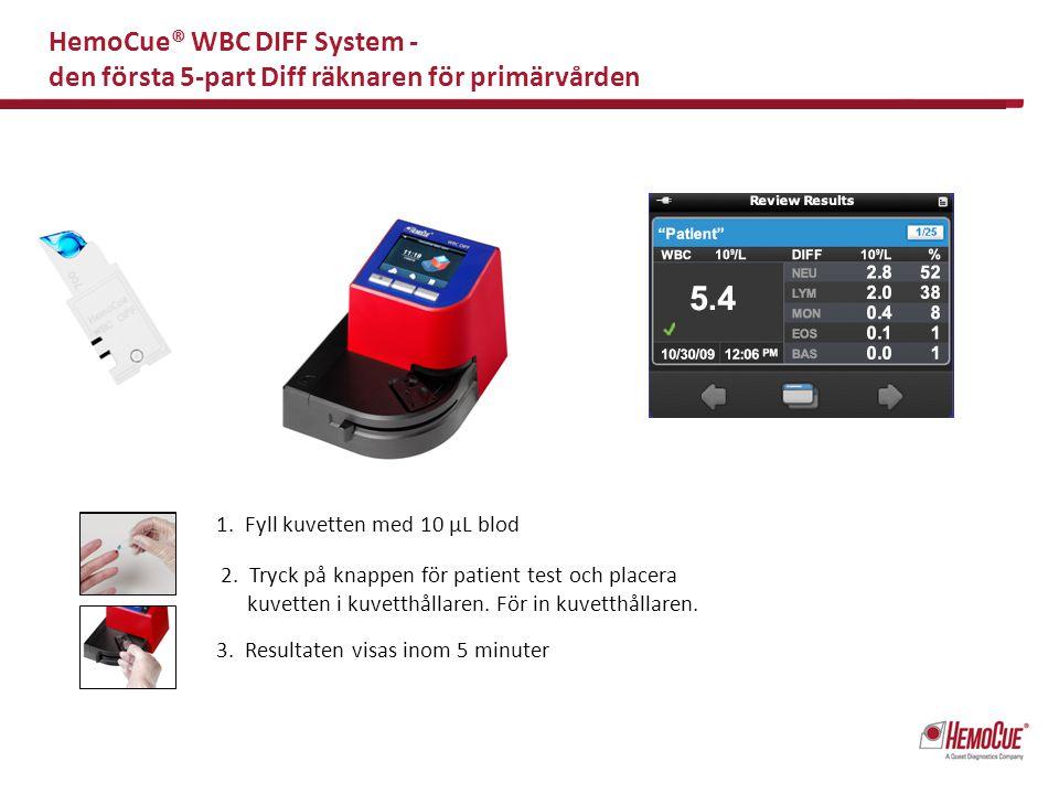 HemoCue® WBC DIFF System - den första 5-part Diff räknaren för primärvården
