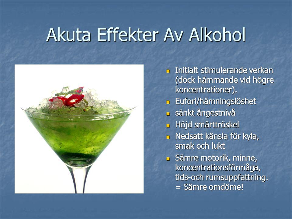 Akuta Effekter Av Alkohol