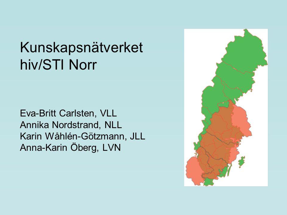 Kunskapsnätverket hiv/STI Norr Eva-Britt Carlsten, VLL Annika Nordstrand, NLL Karin Wåhlén-Götzmann, JLL Anna-Karin Öberg, LVN