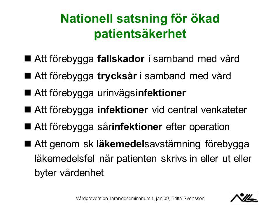 Nationell satsning för ökad patientsäkerhet