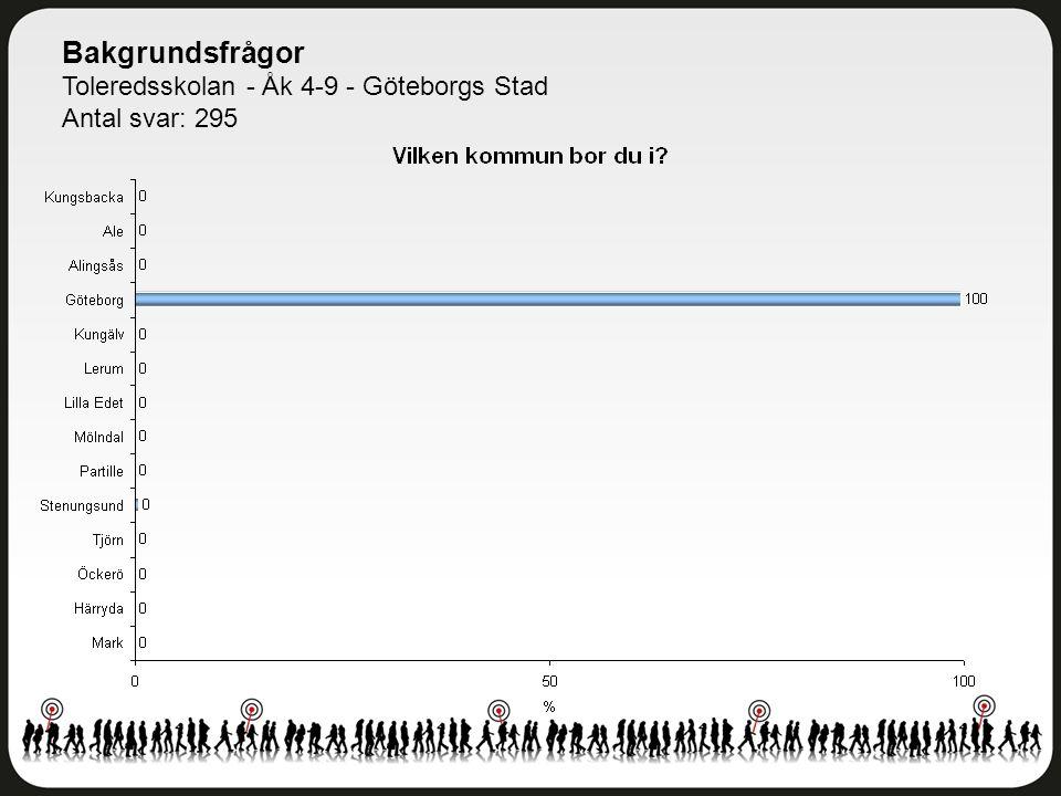 Bakgrundsfrågor Toleredsskolan - Åk 4-9 - Göteborgs Stad