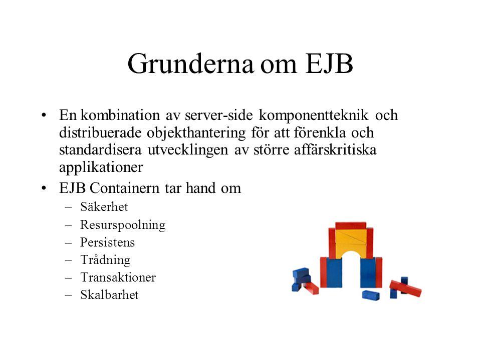 Grunderna om EJB