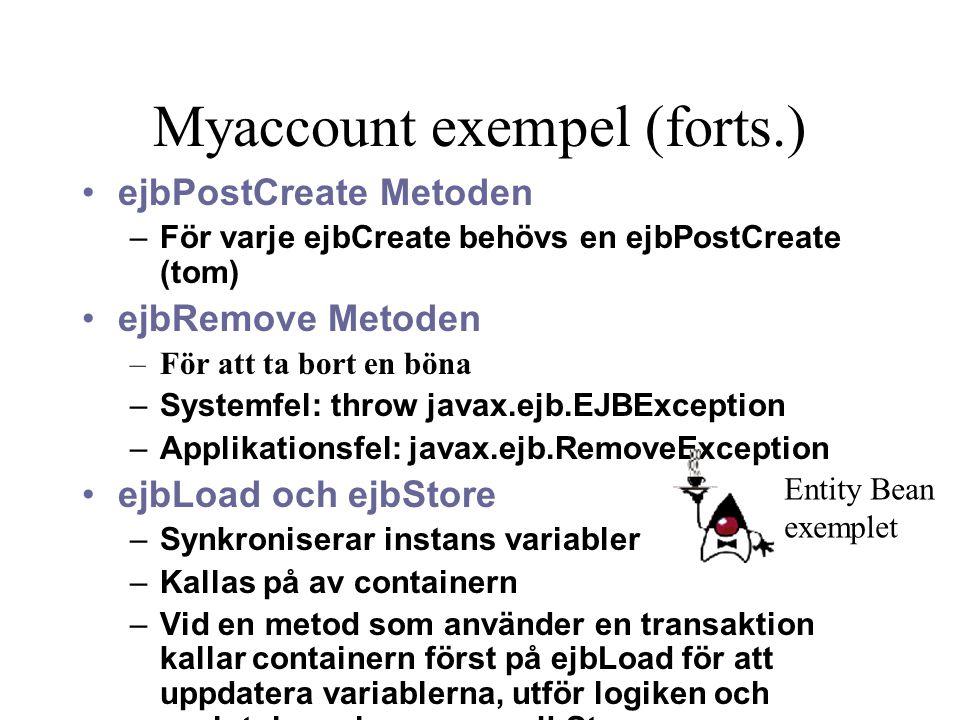 Myaccount exempel (forts.)