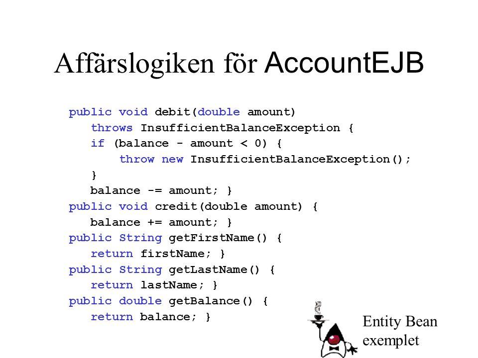 Affärslogiken för AccountEJB