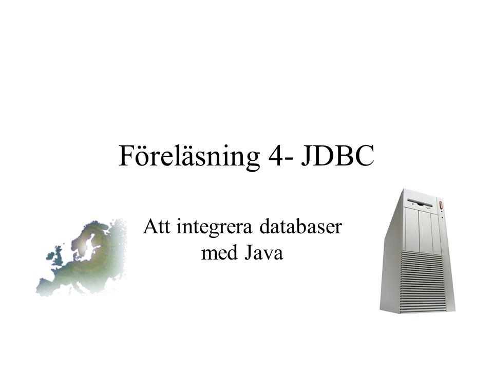 Att integrera databaser med Java