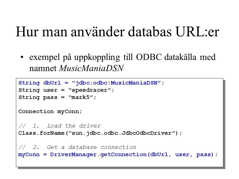 Hur man använder databas URL:er