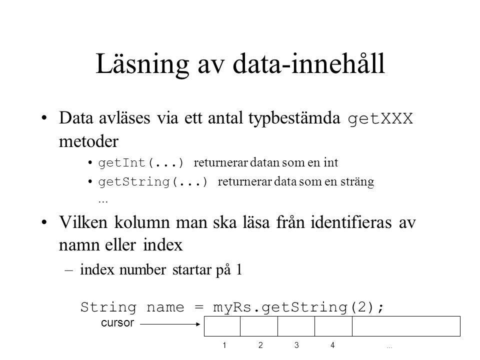 Läsning av data-innehåll