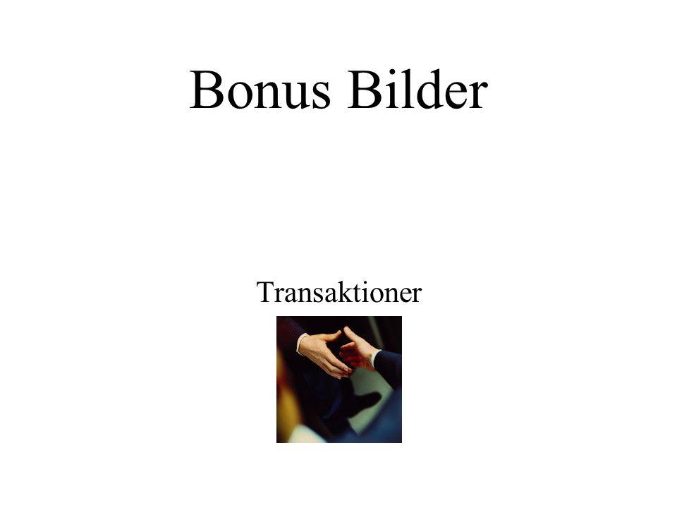 Bonus Bilder Transaktioner
