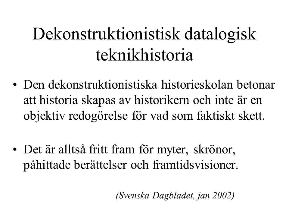 Dekonstruktionistisk datalogisk teknikhistoria