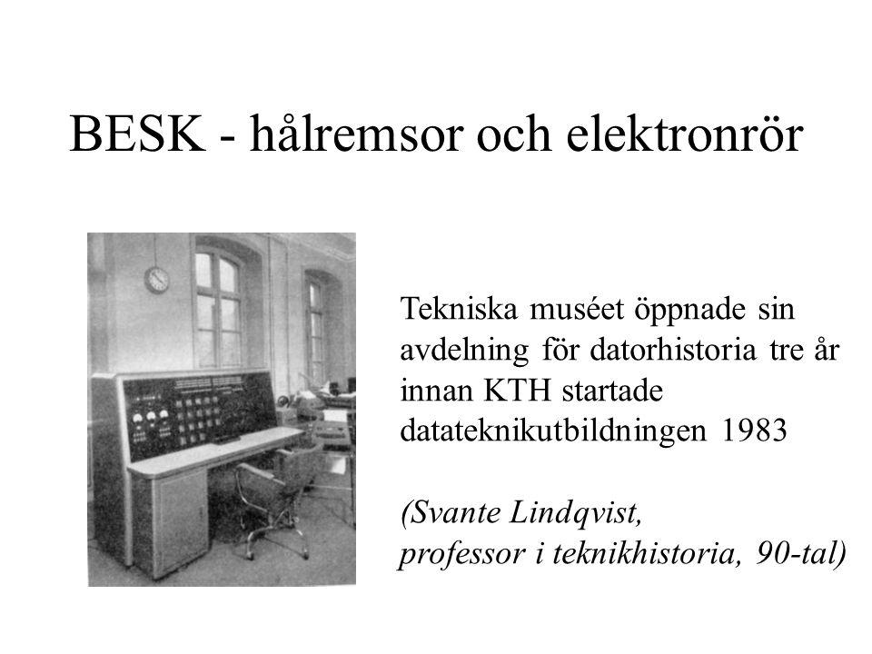 BESK - hålremsor och elektronrör