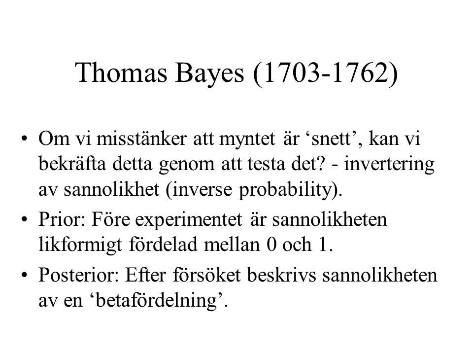 Thomas Bayes (1703-1762)