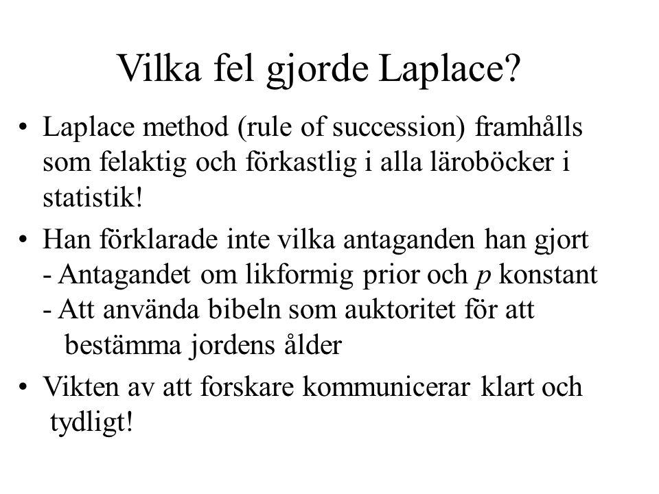 Vilka fel gjorde Laplace