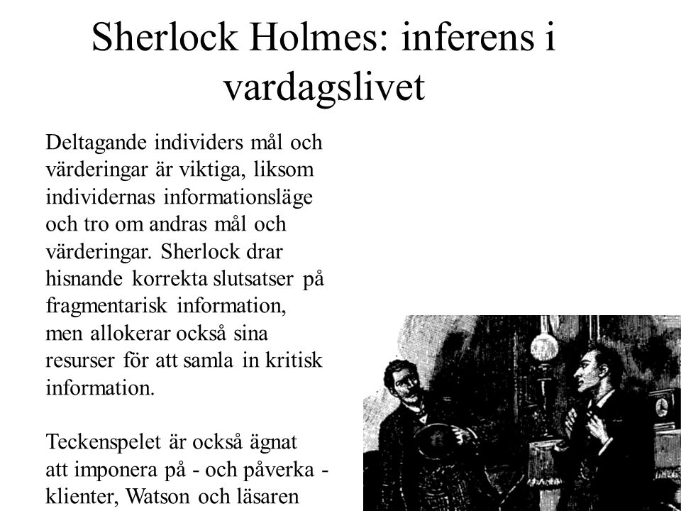 Sherlock Holmes: inferens i vardagslivet