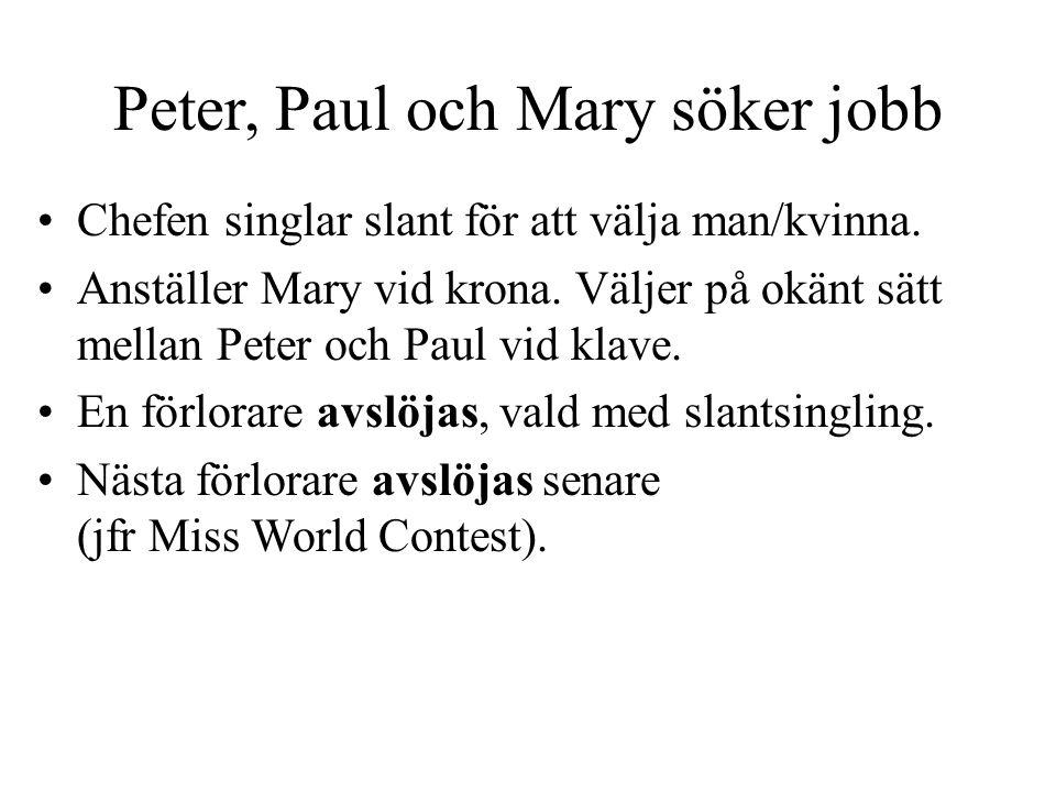 Peter, Paul och Mary söker jobb