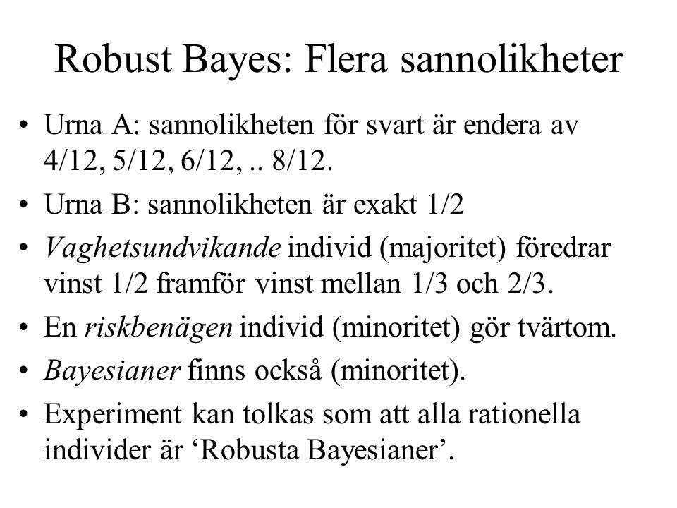 Robust Bayes: Flera sannolikheter