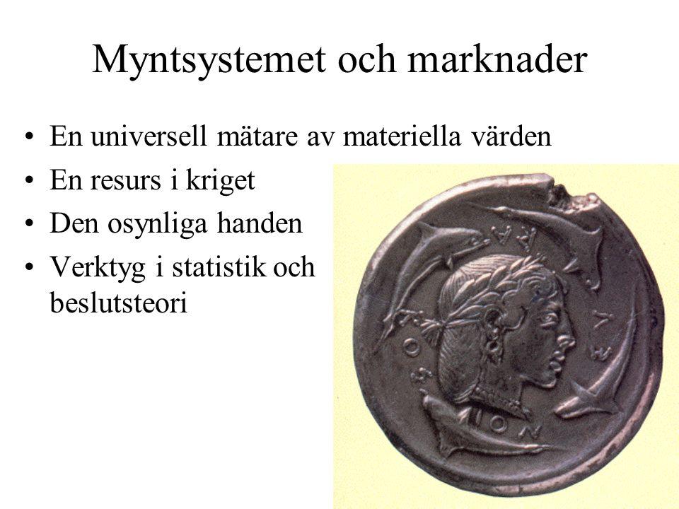 Myntsystemet och marknader