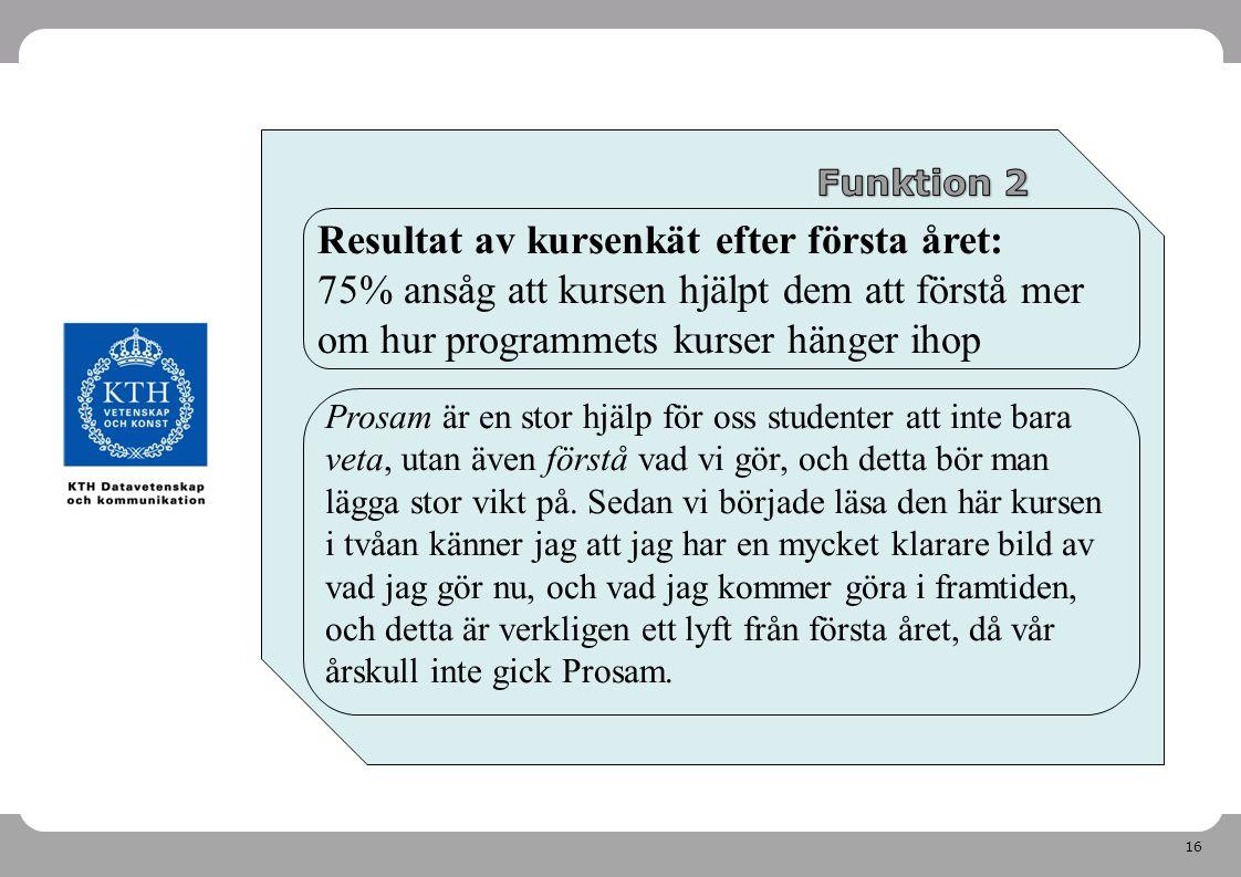 Prosam: inför årskurs 3 2011-04-26. Funktion 2.
