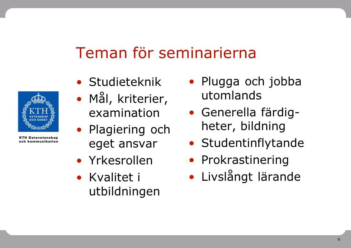 Teman för seminarierna