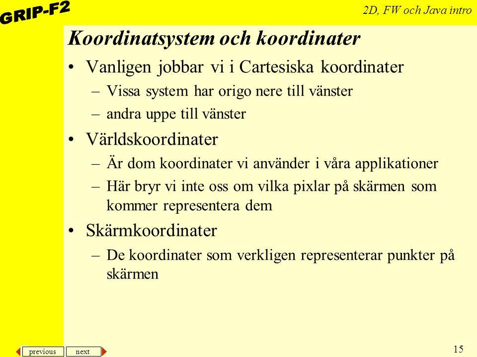 Koordinatsystem och koordinater