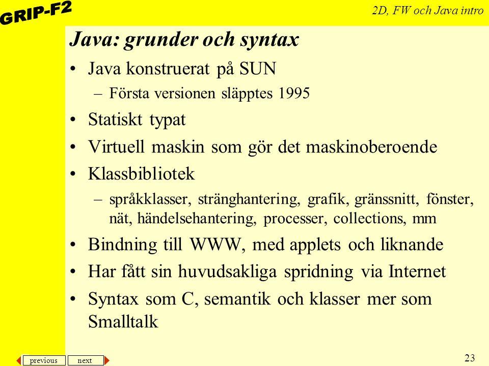 Java: grunder och syntax
