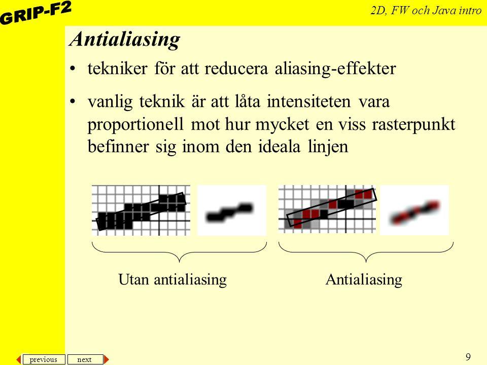 Antialiasing tekniker för att reducera aliasing-effekter