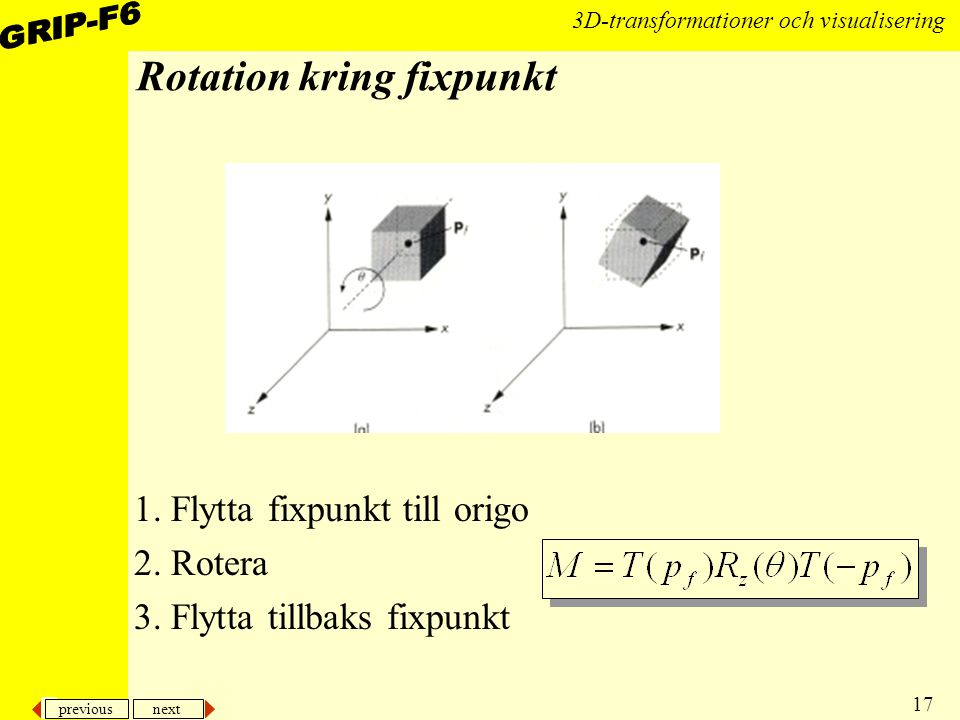 Rotation kring fixpunkt
