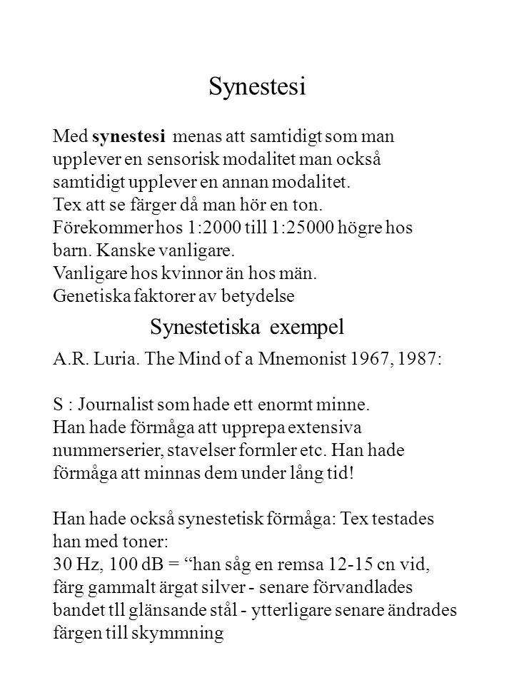 Synestesi Synestetiska exempel