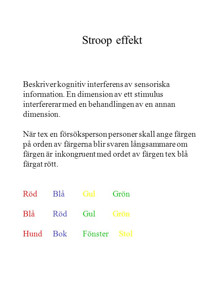Stroop effekt