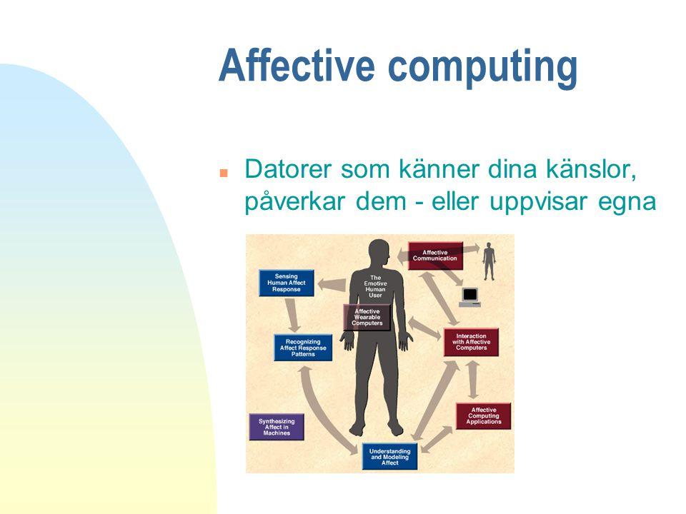 Affective computing Datorer som känner dina känslor, påverkar dem - eller uppvisar egna