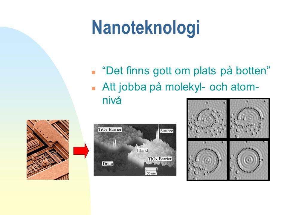 Nanoteknologi Det finns gott om plats på botten