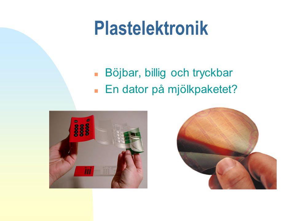 Plastelektronik Böjbar, billig och tryckbar En dator på mjölkpaketet