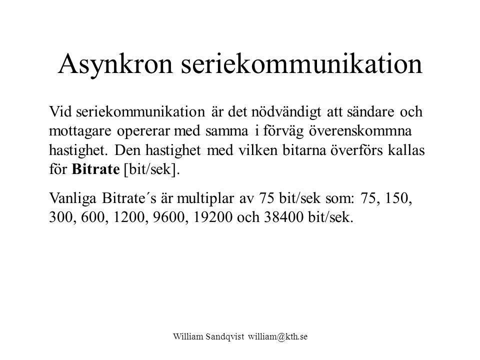 Asynkron seriekommunikation