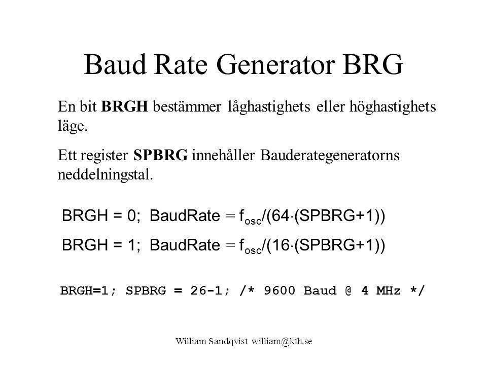 Baud Rate Generator BRG
