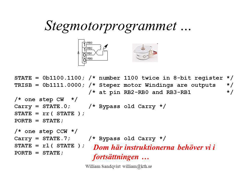 Stegmotorprogrammet …