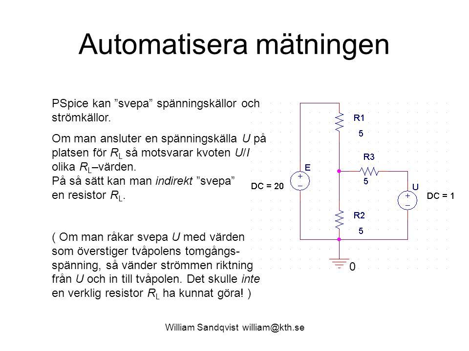Automatisera mätningen