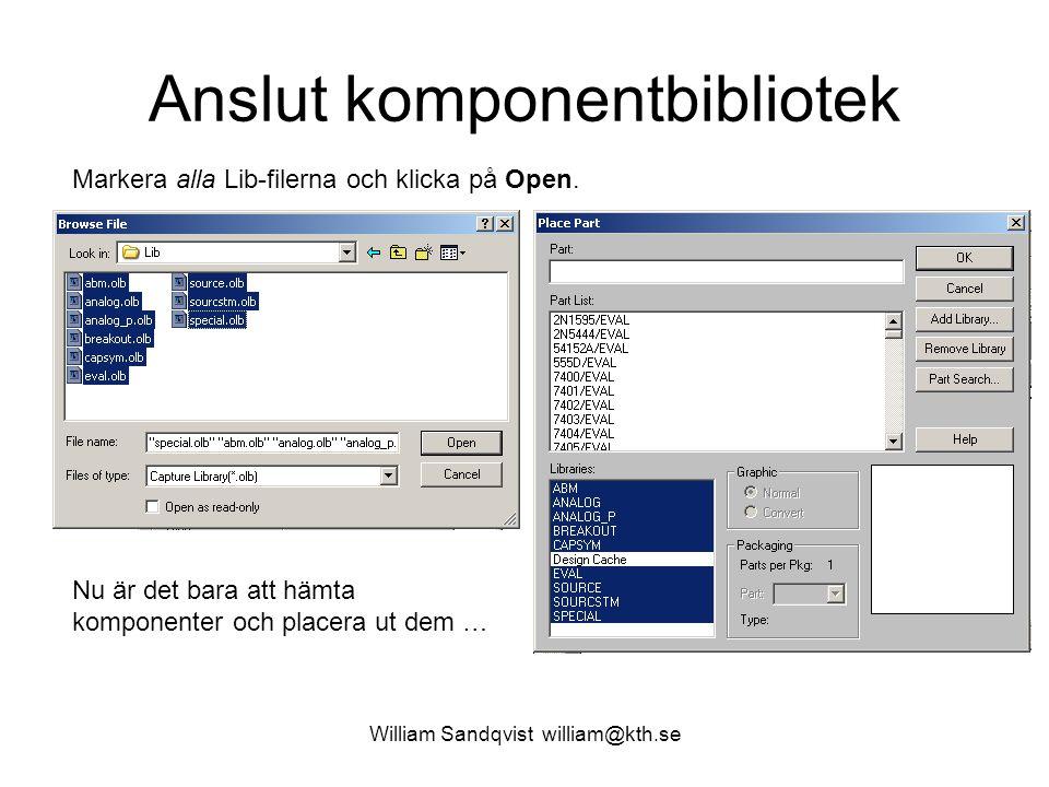 Anslut komponentbibliotek