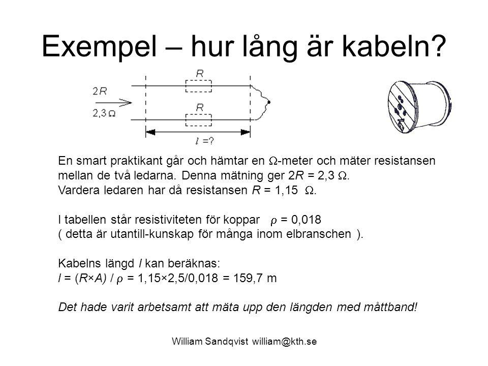 Exempel – hur lång är kabeln